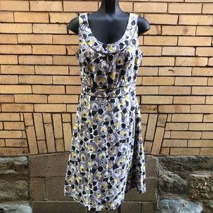 Boden black gray yellow dress 8